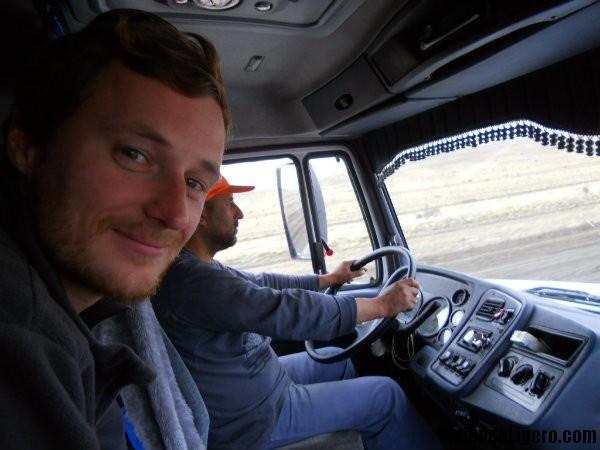 Camión autoestop