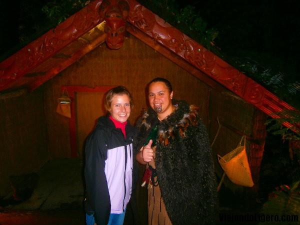 tamaki pueblo maorí Rotorua