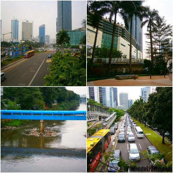 contrastes de Jakarta