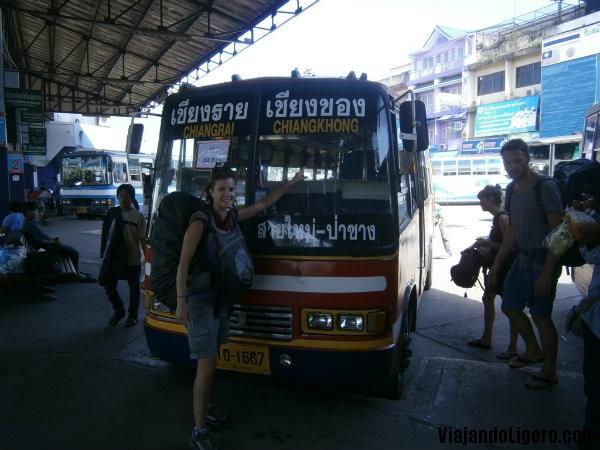 Bus Chiang Rai a Chiang Khong