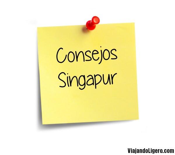 Consejos viajar Singapur