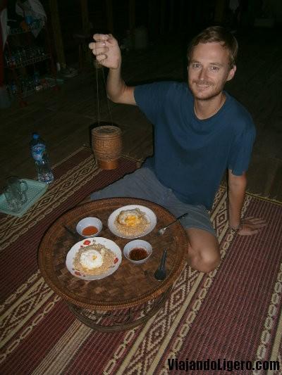desayuno homestay Laos