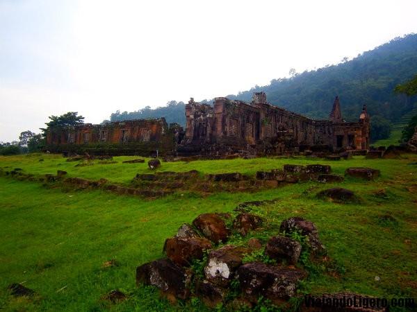 Parte baja de Wat Phu Champasak