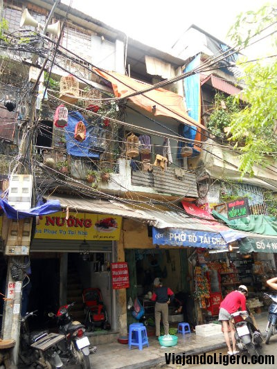 Jaulas de pájaros en Hanoi