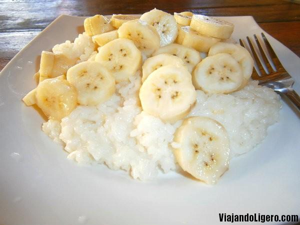 sticky rice banana