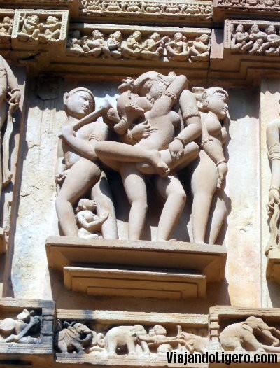 Kamasutra en templo Kandariya