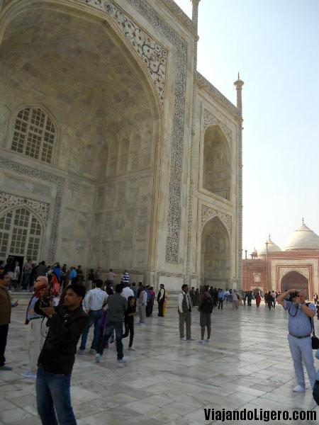 parte norte del Taj Mahal