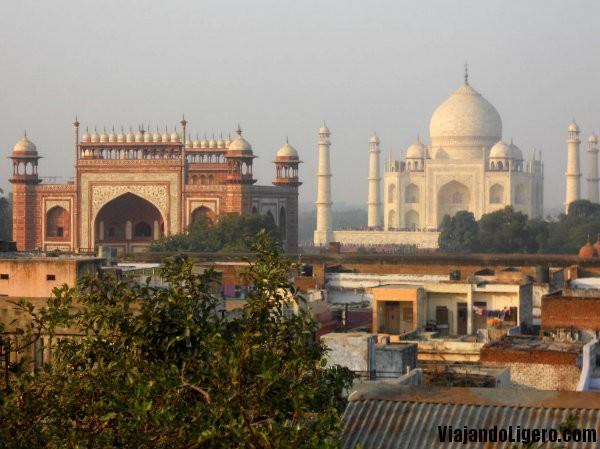 Taj Mahal, atardecer