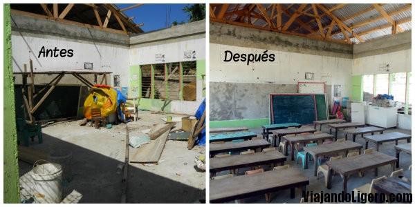 Clase en Logon Elementary School, Malapascua