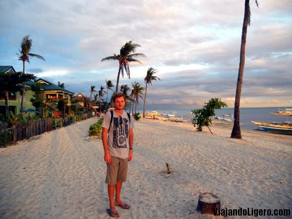 Zona de hoteles en Malapascua