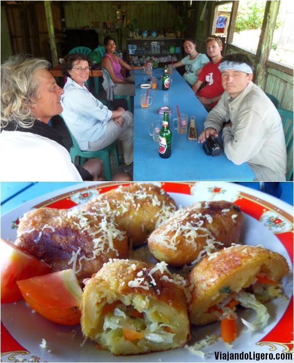 Comida tradicional en Moni