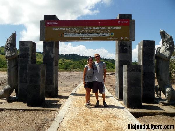 Puerta del Parque Nacional de Komodo