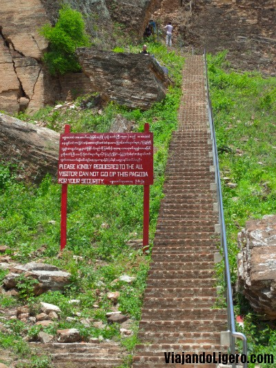 Escaleras Mingun Pagoda