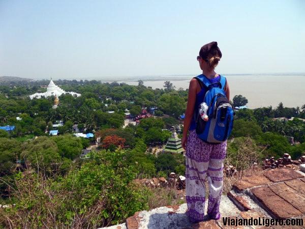 Vistas desde Mingun Pagoda