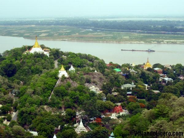 Vistas desde Sagaing Hill