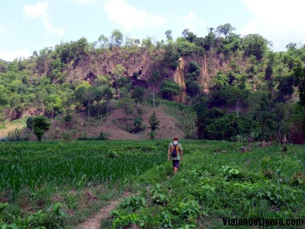 Camino a la cascada, Hsipaw