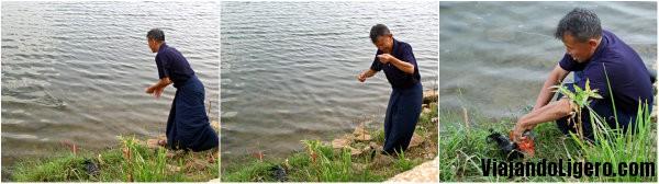 Pescador en Pyin Oo Lwin